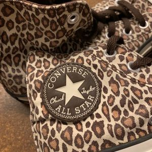 Converse Leopard Print High-tops